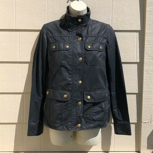J. Crew Downtown Field Jacket Waxed Cotton
